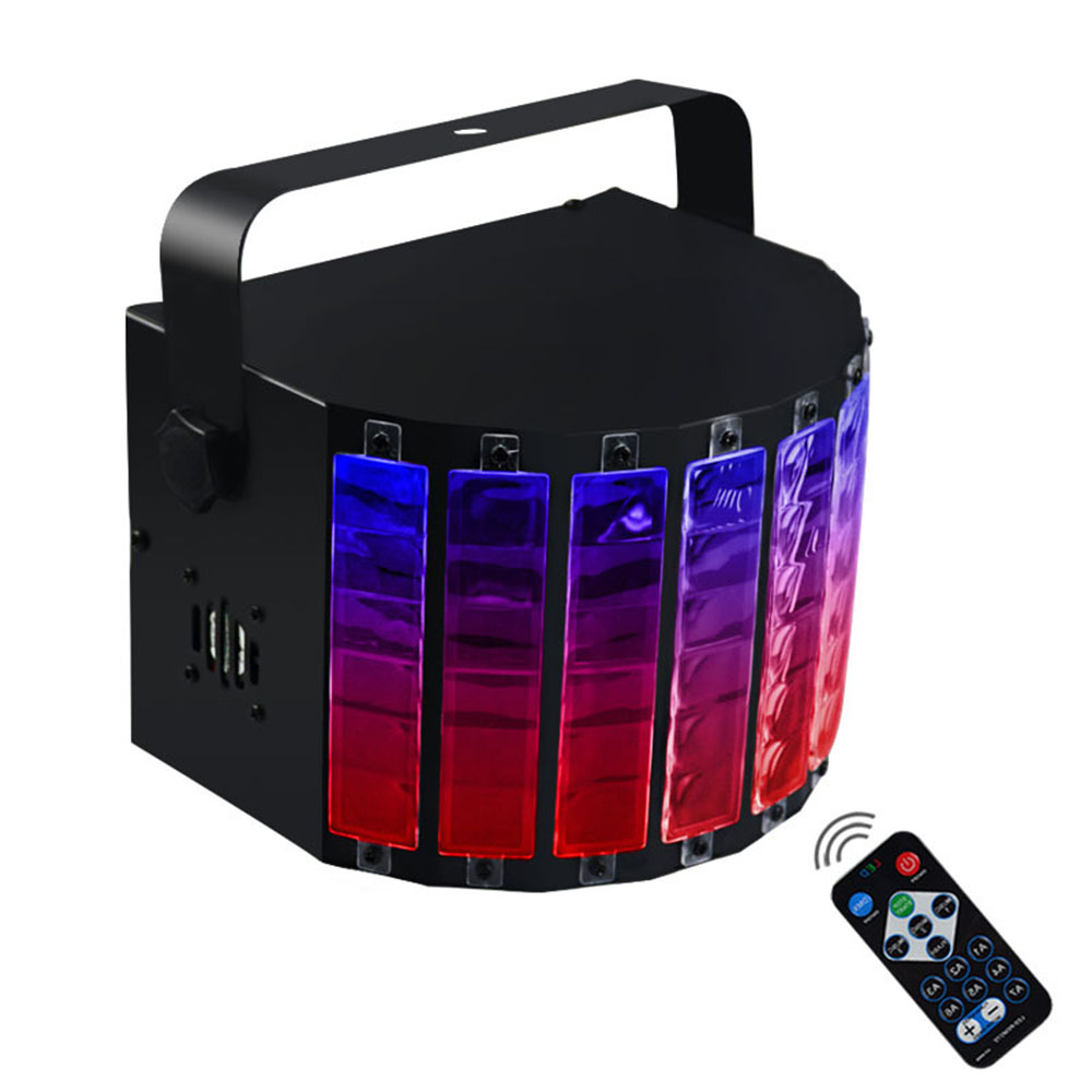 18W DJ Light RGB LED Stage Lighting Effect DMX512 Remote Controller Projector Lamp Christmas Bar KTV Music Party Disco Light premium led stage lights 18w rgb led flat par light stage lamp dmx512 disco dj bar effect up lighting for dj disco party ktv