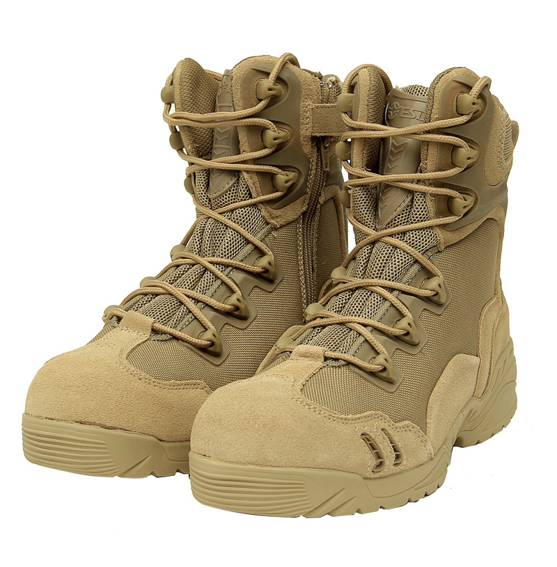 New America Sport Army Men s font b Tactical b font Boots Desert Outdoor Hiking leather