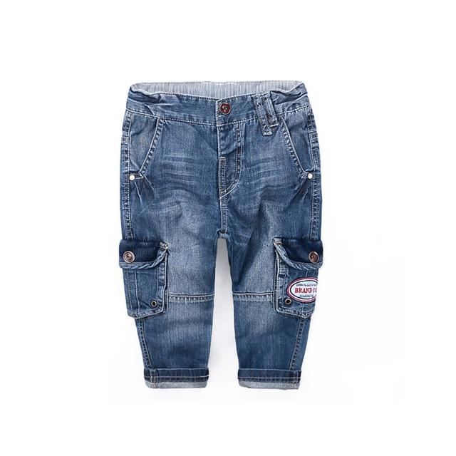 Best Quality 2016 Boys Girls Jeans Fashion Kids Pocket Denim Long Pants Jeans Kids Trousers Children's Pants baby Clothes 2-6T