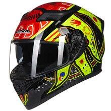 Новый ILM ТОЧКА Анфас Мотоциклетный Шлем + 2 Козырьки + 9 Цветов Мода Quick Release Шлем Защитный Шлем Каско Полное Лицо шлем