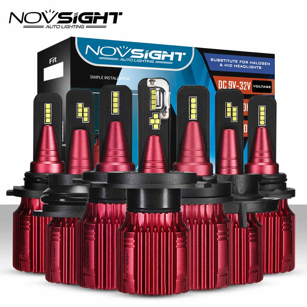 NOVSIGHT Car Headlight H4 Hi/Lo Beam LED H7 H8 H9 H11 H13 9005 9006 9007 40W 12000lm 6500K Auto Headlamp Bulbs