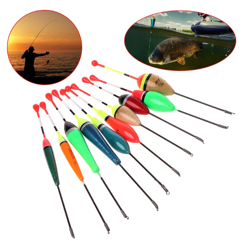 10Pcs Set Fishing Floats Set Buoy Bobber Fishing Light Stick Floats Fluctuate Mix Size Color Accessories in Fishing Float from Sports Entertainment