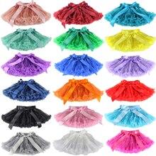 Пышные шифоновые юбки-американки для маленьких девочек; юбки-пачки принцессы для вечеринки; одежда для балета; 12 мес.-10 лет; 30 цветов;