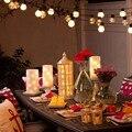 Новый 10 м 38 СВЕТОДИОДОВ Строка Лампы Шар Гирлянда Партия Шары G45 светодиодные Рождественские гирлянды СВЕТОДИОДНЫЕ Свадебные Лампы Сад Кулон гирлянды