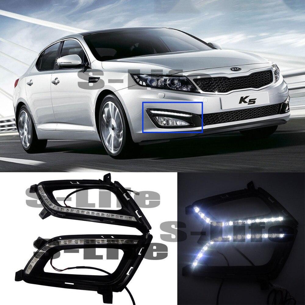 Light Daytime Running Light DRL Fog Driving Bulbs For Kia K5 2011-2013 12XLED