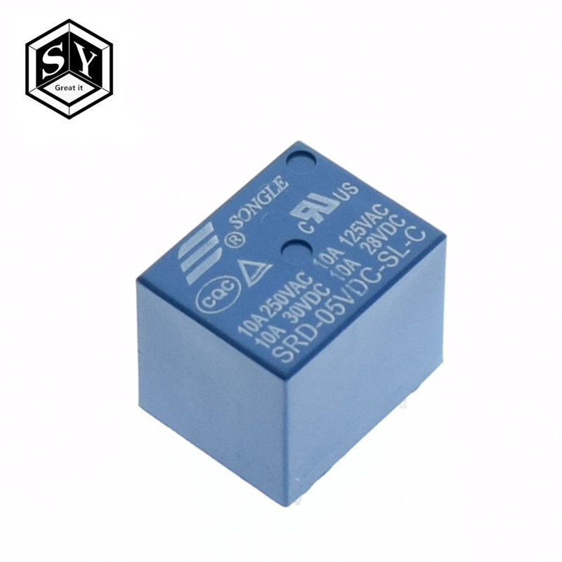 10PCS Relay 12V DC SPDT Power Quality SRD-12VDC-SL-C SONGLE Good Quality DIY New