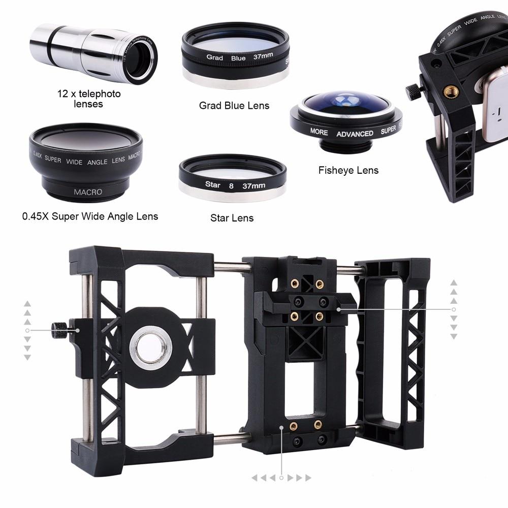 Fotografía Profesional lente estabilizador Universal soporte ajustable para teléfono móvil para iPhone y otros teléfonos inteligentes - 6
