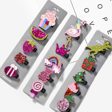 Fashion Bowknot Hair Clips Animal 5PCS/Set Pins 5 Colors Children Cartoon Colours Toddler Accessories Girls