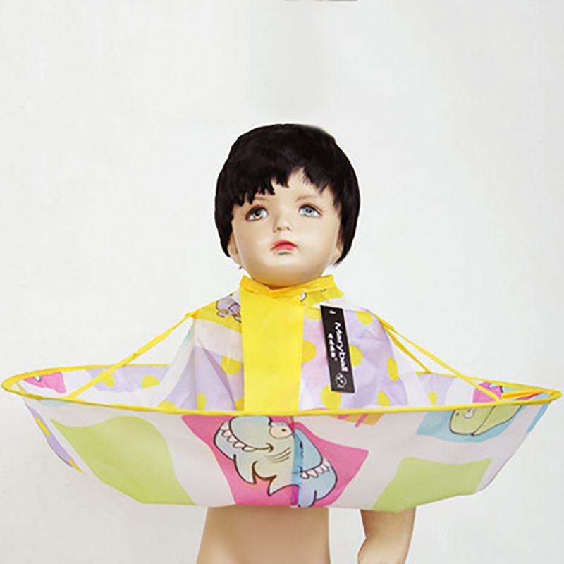 60CM Cartoon Ocean Baby Shampoo Capes Children Hair Cuttings Capes Waterproof Silk Hairdresser Barbers Aprons For Kids Hair Care