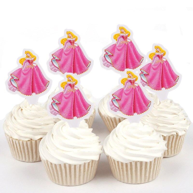 Us 188 35 Off100 Pcs Disney Putri Salju Cinderella Yang Belle Kertas Cupcake Puncak Untuk Dekorasi Kue Ulang Tahun Pesta Pernikahan Pemasok In