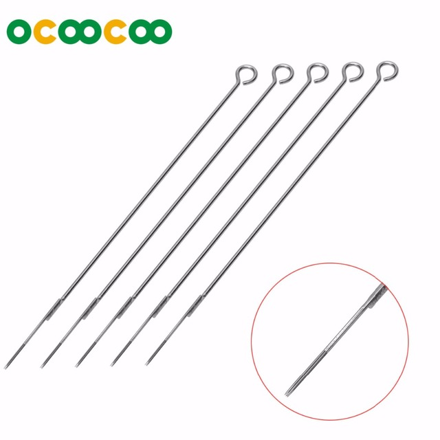 (5PCS) 5RS Disposable Tattoo Needles With RoHS 304 Medical Stainless Steel – Silver (5PCS)