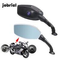 Jabriel Motorcycle Dvr With Tow Cameras Rear View Mirror Auto Digital Video Recorder Dash Cam Camera registrator for Motorcycle