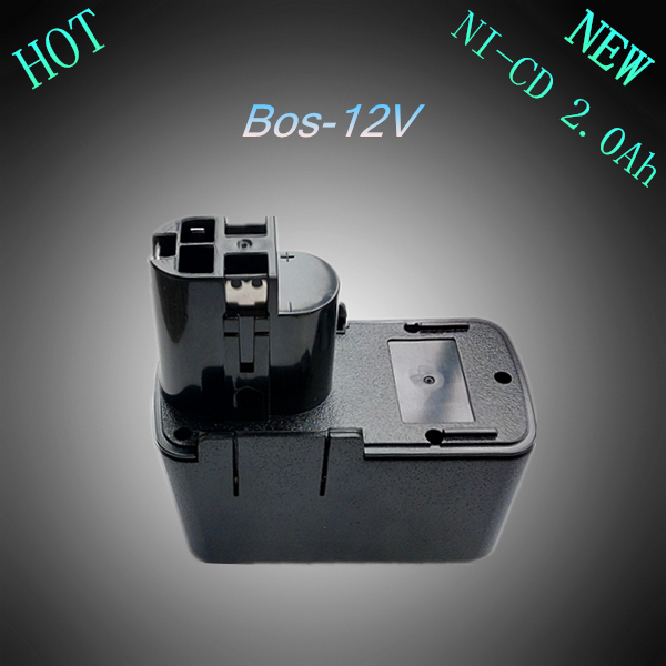 New 12V Ni-Cd 2.0Ah Replacement Rechargeable Power Tool Battery for Bosch 2 607 335 055 2607335071 2 610 910 405 BAT011 BH1214H replacement power tool battery charger for bosch 7 2v gsr9 6 12v 14 4v ni mh ni cd al1411dv gsr7 2 2 gsr9 6 2 gsr12 2 gsb12 2