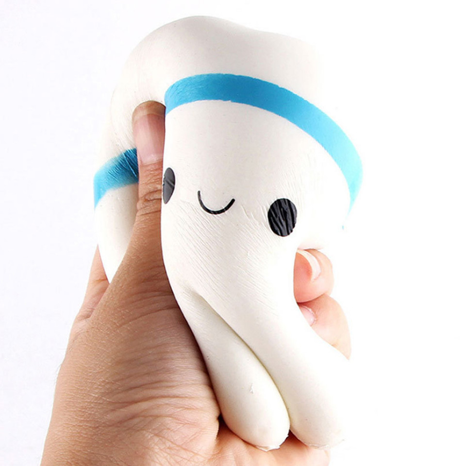 Stress Relief Squeezable Foam Tooth