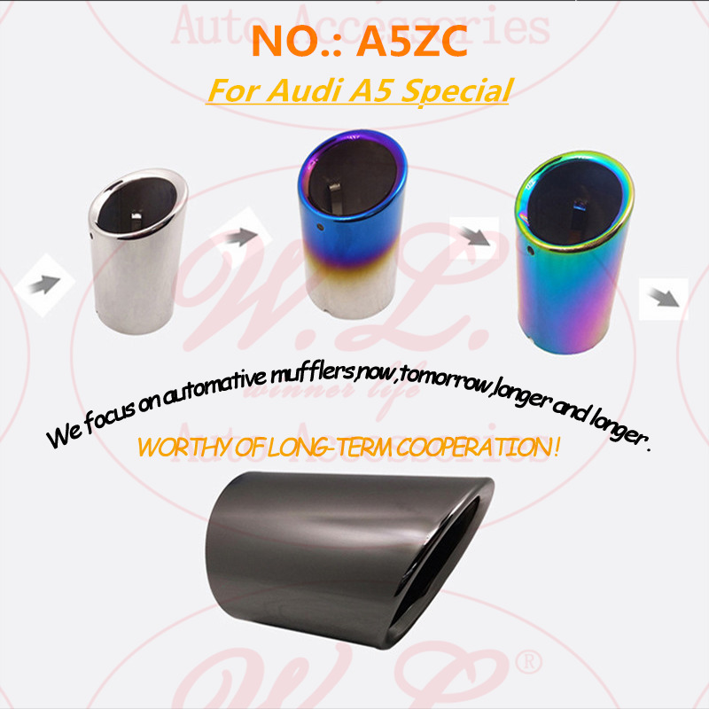 4 colors Car Exhaust tip Muffler special ending tube Modified Tail Pipe for audi A5 inlet