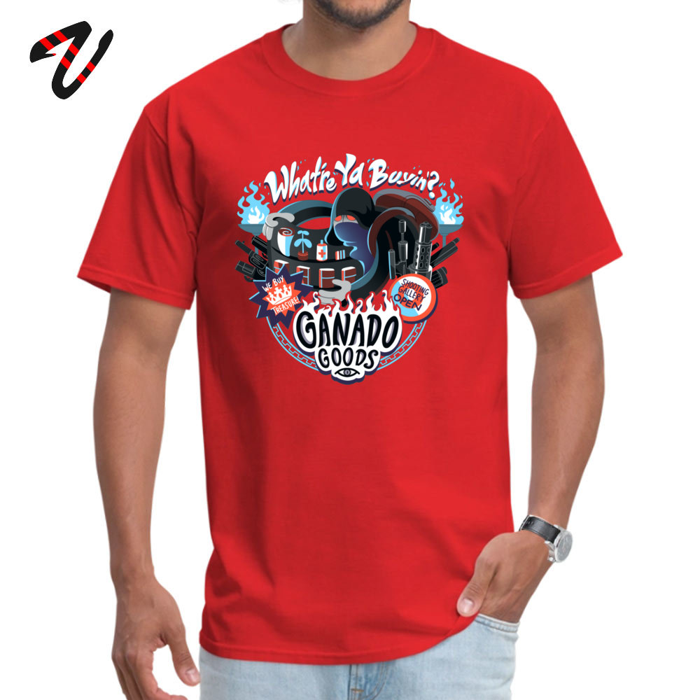Men's Top T-shirts Ganado Goods Funny Tops Tees All Cotton O-Neck Short Sleeve Summer Tee-Shirt Mother Day Drop Shipping Ganado Goods15938 red