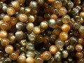 Frete grátis (44 contas/set) natural incrível Botswana sunstone preto 8-8.5mm rodada solta pérolas para a tomada de jóias de design