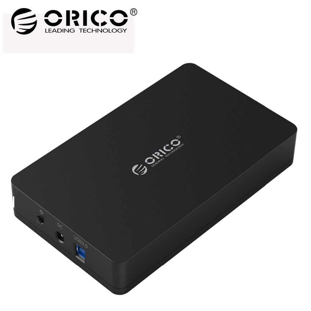 ORICO 3.5 Inch Hard Disk Box Sata 3.0 To USB 3.0 HDD Case Tool Free Support UASP Protocols SSD External Hard Drive Enclosure все цены