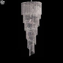 Chandeliers 9 chrome lamp corridor lights crystal lamps beautiful metal lamp D40cm x H120cm(China)