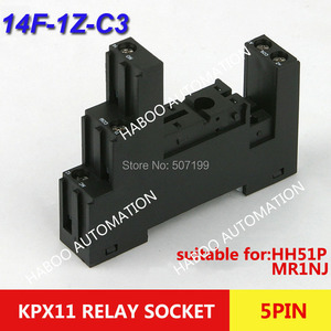 10 шт./лот реле времени гнездо для PI35BE/3 14FF-1Z-C3 реле Мини реле гнездо 5pin винтовой тип электрическая розетка