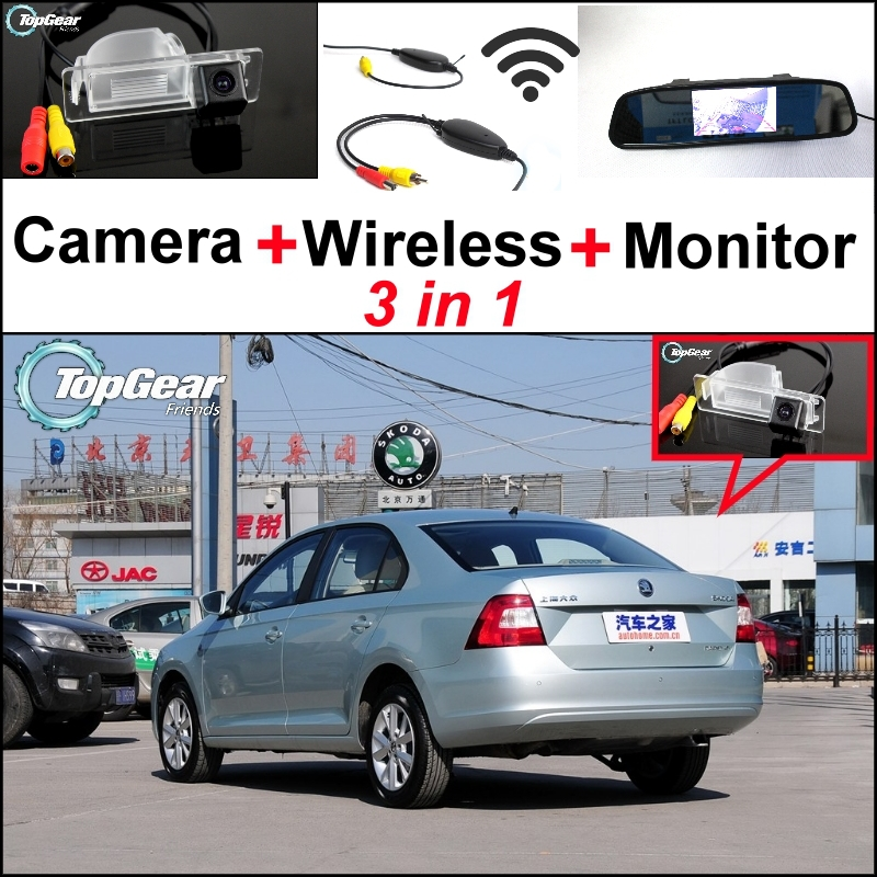 3 in1 Special Rear View font b Camera b font Wireless Receiver Mirror Monitor Easy Back