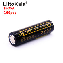 Toptan 100 adet 100% Orijinal LiitoKala Lii 35A 3.7 V 3500 mAh 10A Deşarj şarj edilebilir pil El Feneri piller