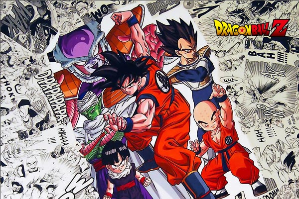 Bedding room design wall posters dragon ball z art anime printed 50x75cm poster top sales gift