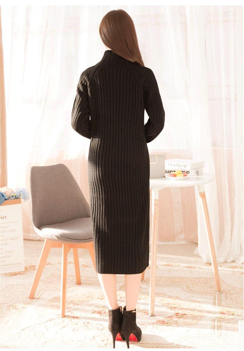 khaki Nero Mujeral624 Famale Dolcevita black Vestido Casual A 2019 Di Maglioni Maglia Vestito Lavoro Caldo Abiti Blue Donne Delle Maxi Teaegg Dark Vestiti pqIfBB