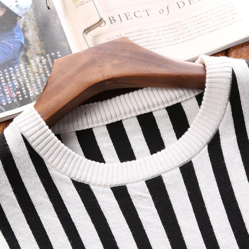 White Cou O Aismz Mâle Hombre Tricoté Automne Suéter Vêtements Az az Rayé ms922 Hiver Pull Hommes 2018 Homme Chaud Chandail Black ms922 Mince Fit zzrwqg8
