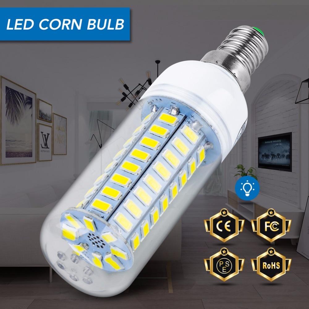 E27 Led Lamp 220V E14 Led Corn Bulb SMD 5730 24 36 48 56 69 72Leds Bombilla Power Led Light for Home Candle Chandelier Spotlight in LED Bulbs Tubes from Lights Lighting