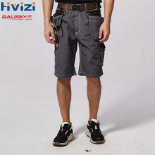 men's work pants short workwear trousers mult-functional tool pockets durable and wear-resistant pants summer free shipping B219 недорого