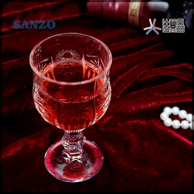 Livraison gratuite vieux fashional sans plomb verre machine faite gravure vin verre à liqueur verre vodka ensemble de 6 pièces avec boîte de couleur