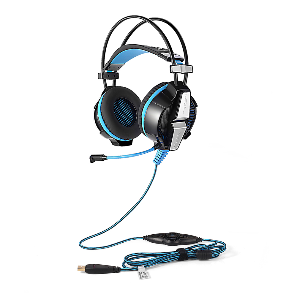KOTION EACH G7000 Gaming Headset 7.1 USB Wired Headphone W/ MIC Surround Vibration/LED Light Headband Earphones For PC Gamer