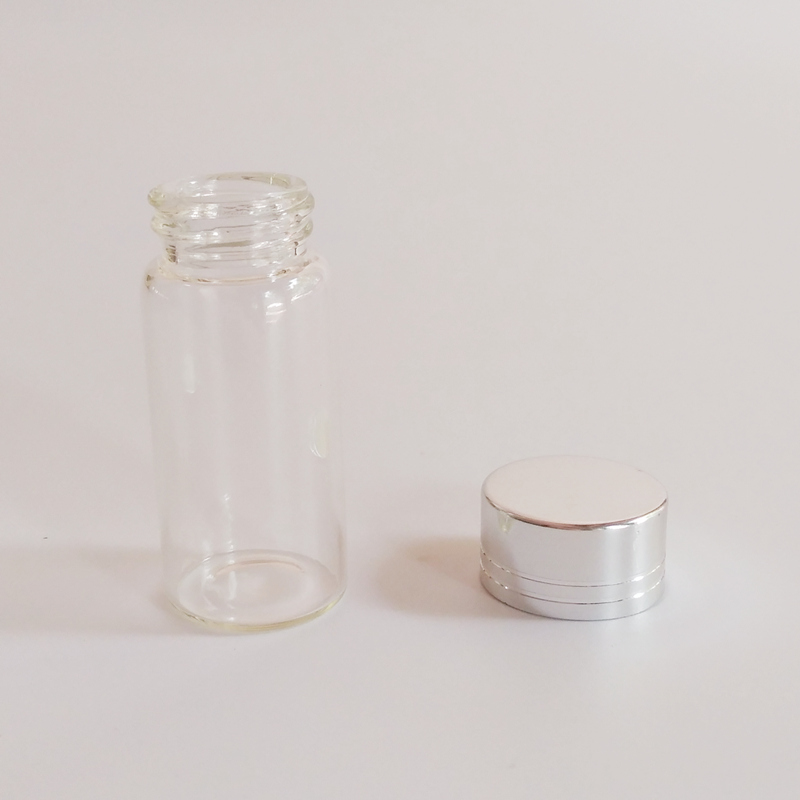50pcs lot 10ml Cute Glass Jar with Sliver edge lid Dry Goods Storage bottle Home decoration crafts Wedding Candy Glass bottle in Bottles Jars Boxes from Home Garden