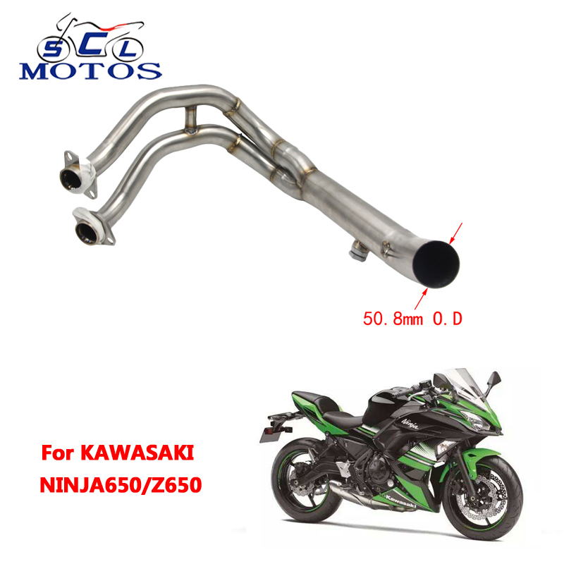 Здесь продается  Sclmotos-Motorcycle Stainless Steel 51mm Exhaust Full System Pipe Muffler Header Racing For Kawasaki NINJA650 Z650  Автомобили и Мотоциклы