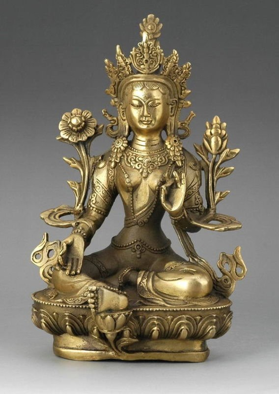 H 210mm Decorated RARE Tibet Silver gold Buddhism statue Buddha  wholesale Decoration real Silver BrassH 210mm Decorated RARE Tibet Silver gold Buddhism statue Buddha  wholesale Decoration real Silver Brass