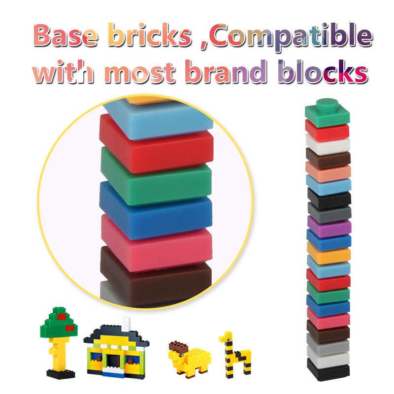 1x1 pixel tijolos conjunto criativo clássico blocos de construção para a arte do mosaico projetos pixel pintura tijolos brinquedos para crianças adultos