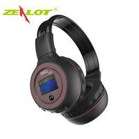 ZEALOT B570 Headset Headphone Bluetooth Wireless LED Display Handsfree earphone for phone With microphone FM Radio TF Card Play
