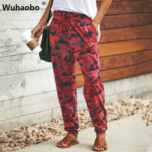 Wuhaobo Pants Cargo Pants Hip Hop Harem Pants 2019 Female Trousers Wom