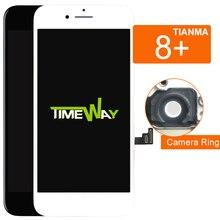 10 pçs para iphone 8 plus display lcd para tianma com digitador assembléia com substituição da tela de toque 3d para iphone 8 plus lcd