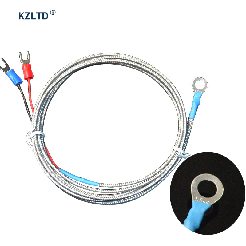 Sensore di temperatura Tipo K Termocoppia Sonda diametro 6 mm Tipo di rondella Sonda termocoppia per termoregolatore PID