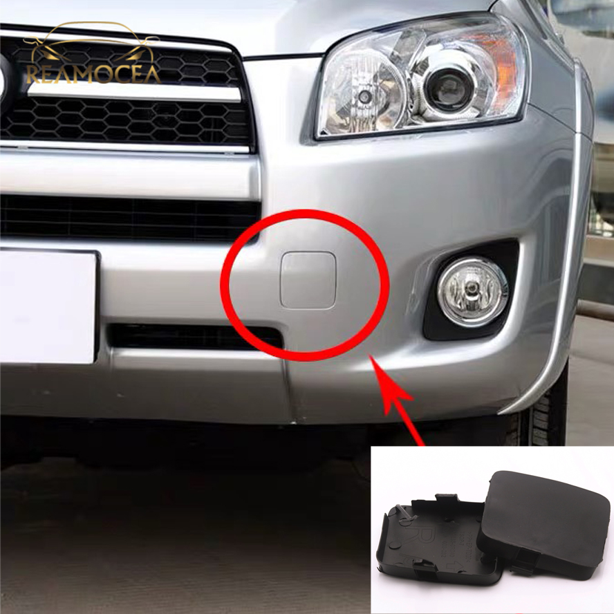 Reamocea 2pcs 53286-0R020 Front Left Right Car Bumper Trailer Tow Hook Eye Covers Caps For <font><b>Toyota</b></font> <font><b>RAV4</b></font> 2009 <font><b>2010</b></font> 2011 2012 image