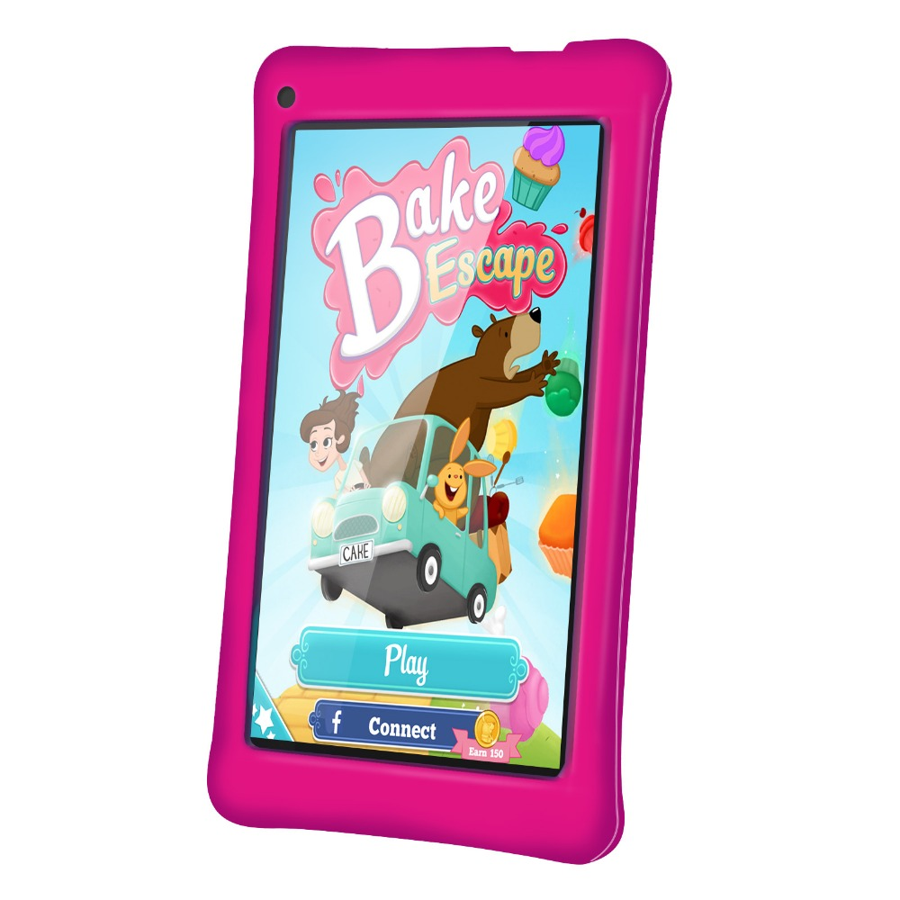 KIDS GIFT 7 Inch Kids Tablet PC HD 1024x600 512MB+8GB WiFi Bluetooth Dual Camera Android 4.4 A33 Quad Core Children Tablets yuntab7 inch quad core q88 1 5ghz android 4 4 tablet pc q88 allwinner a33 512mb 8gb capacitive screen 1024x600 dual camera wifi