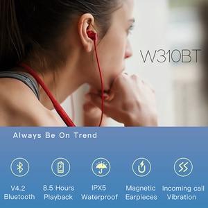Image 2 - EDIFIER W310BT Bluetooth V 4,2 kopfhörer bis zu 8,5 stunden wiedergabe IPX5 Wasserdichte magnetische ohrhörer eingehenden anruf vibration