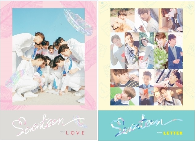 SEVENTEEN 1ST ALBUM - FIRST LOVE & LETTER -  LOVE VER + LETTER VER KPOP ALBUM first love