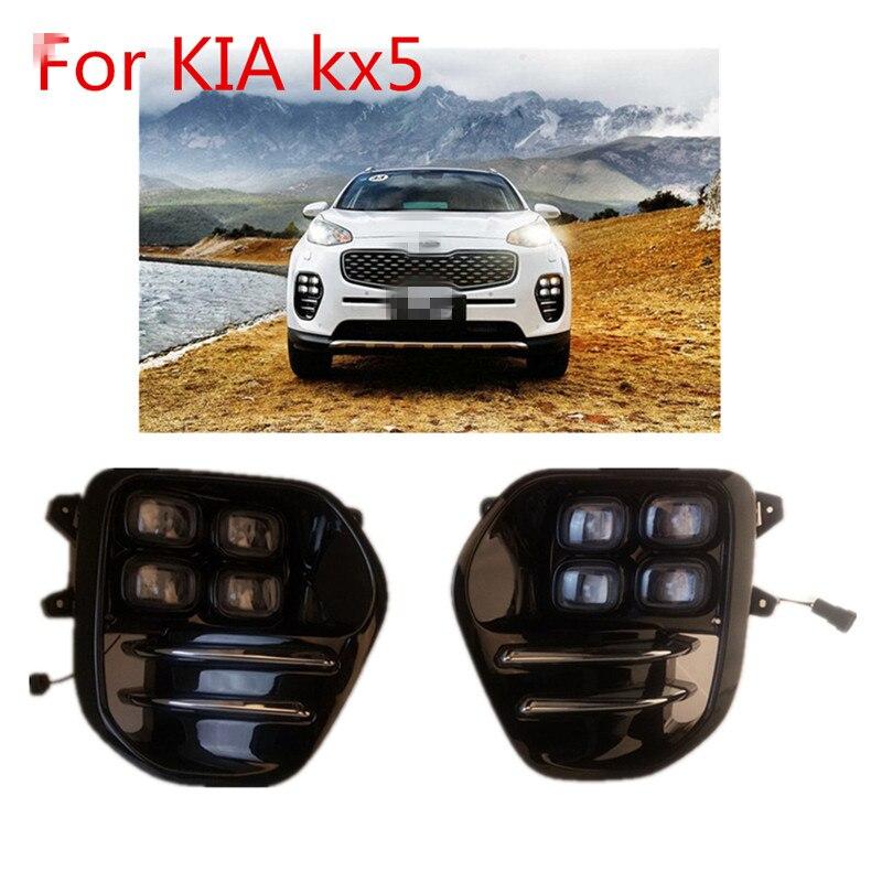стайлинга автомобилей светодиодными фарами дневного света для Киа Спортаге kx5 2017 Сид DRL дневного света