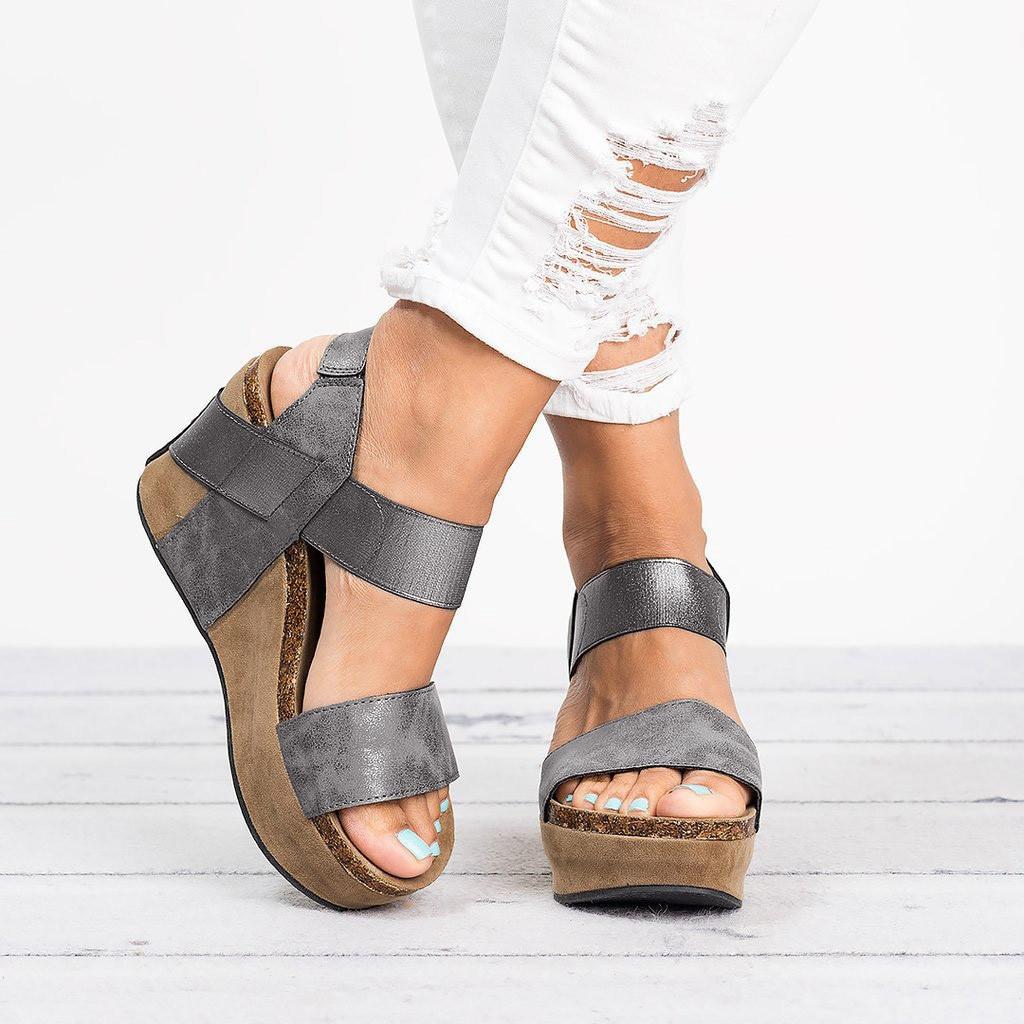 Comfortable Sandal Platform Flat-Flowers Female Peep-Toe Women Elegant Soft Leisure Solid