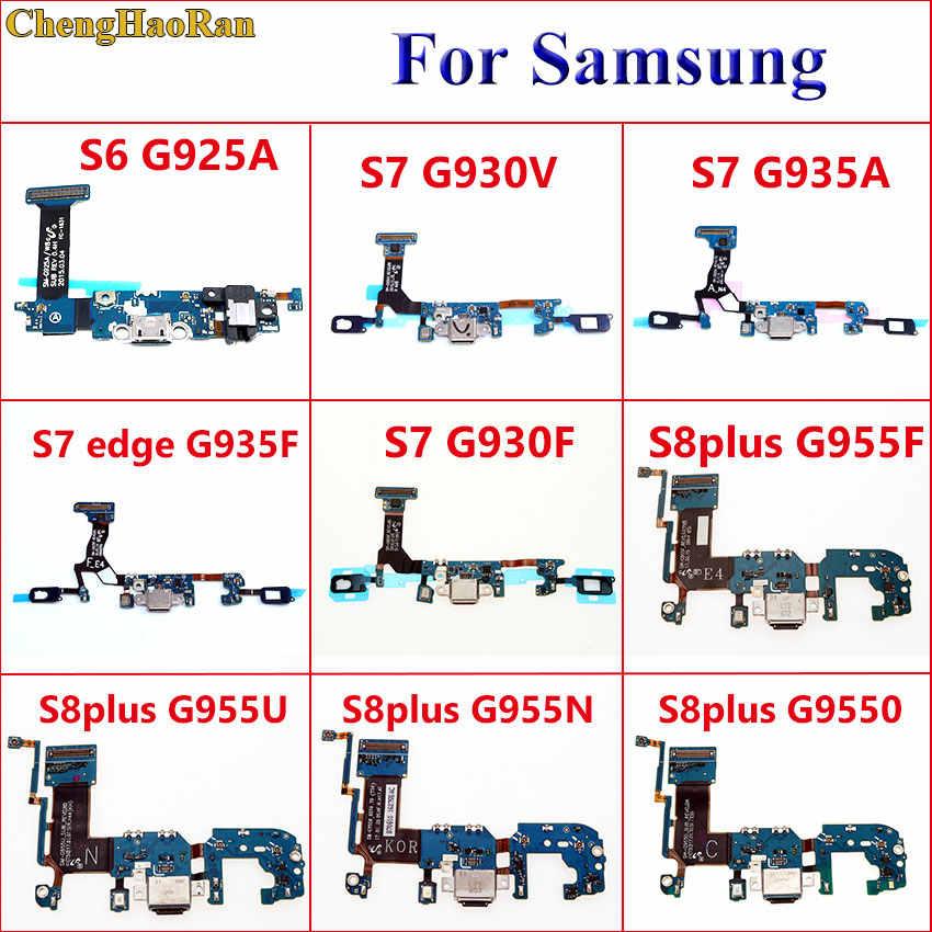 Chenghaoran USB Charger DOCK Port Konektor Kabel Fleksibel untuk Samsung Galaxy S6 S7 G930V G935A Edge G935F S8 Plus G955F g955U G955N