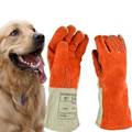 Thicken Leather Anti-bite Gloves Animal Training Cat Dog Snake Bite Anti-scratch Self defense Protective M Feeding Safety Glove