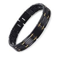 Neutral Stainless Steel Black Men's Bracelet Magnet Bracelet Lovers
